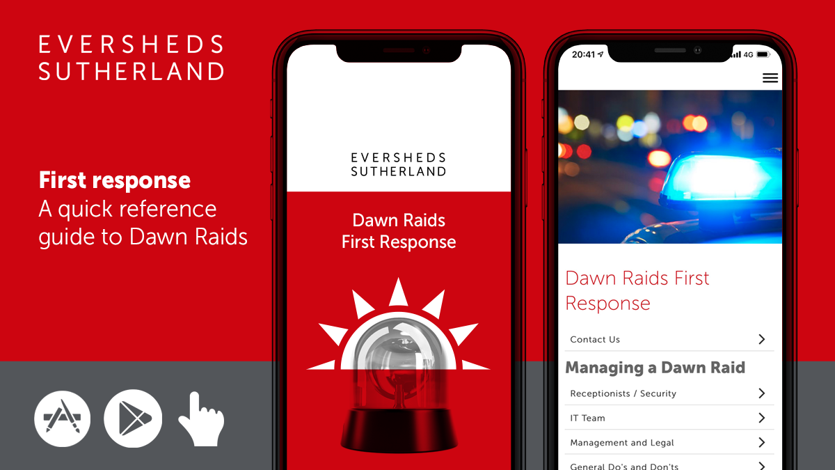 Eversheds Sutherland launches Dawn Raids app