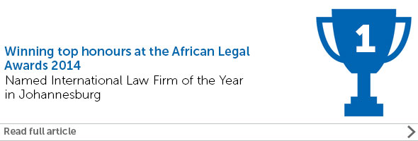 Eversheds scoops double award win at the African Legal Awards 2014