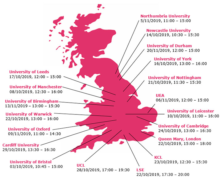 Eversheds Law Fair Map